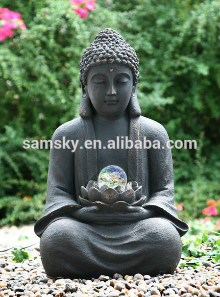 grande statue bouddha pour jardin khenghua. Black Bedroom Furniture Sets. Home Design Ideas