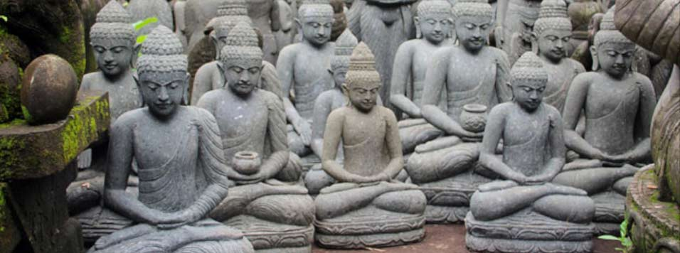 Statue bouddha exterieur pierre khenghua for Jardin zen acheter