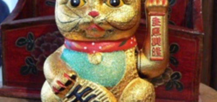 Chat chinois porte bonheur khenghua - Porte bonheur chinois chat ...