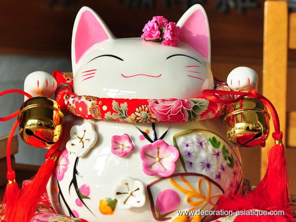 Figurine chat japonais khenghua - Porte bonheur chinois chat ...