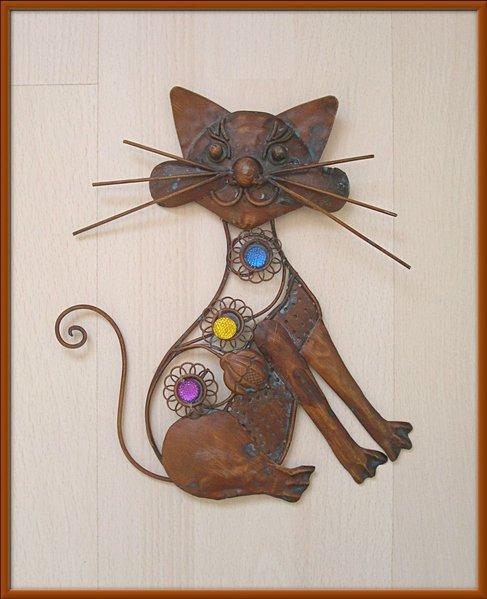 Deco chat en fer khenghua for Decoration maison hanouka