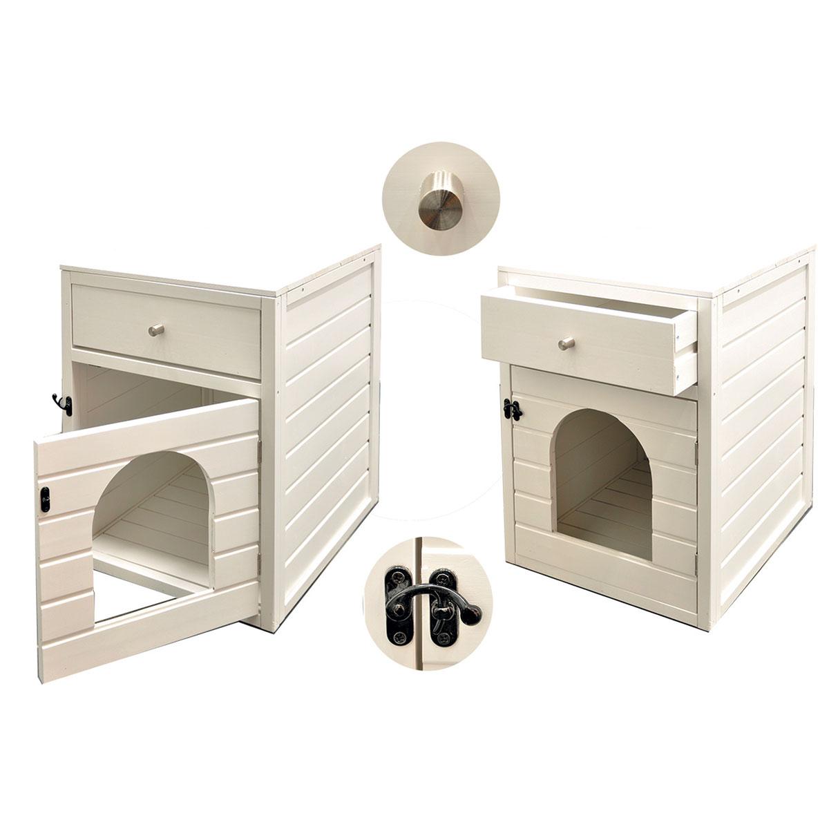 meuble maison de toilette pour chat khenghua. Black Bedroom Furniture Sets. Home Design Ideas