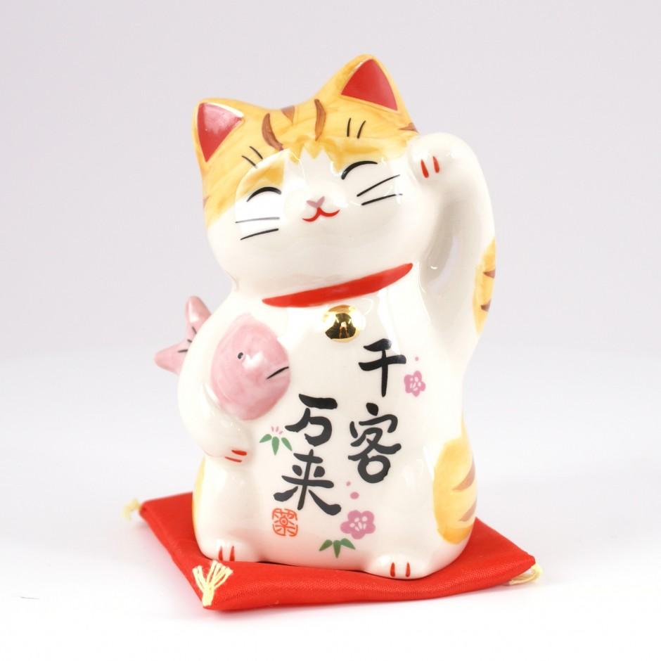 Chat japonais porte bonheur khenghua - Porte bonheur chinois chat ...