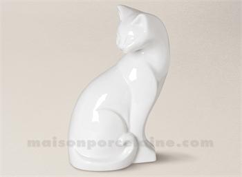 chat porcelaine blanche khenghua. Black Bedroom Furniture Sets. Home Design Ideas