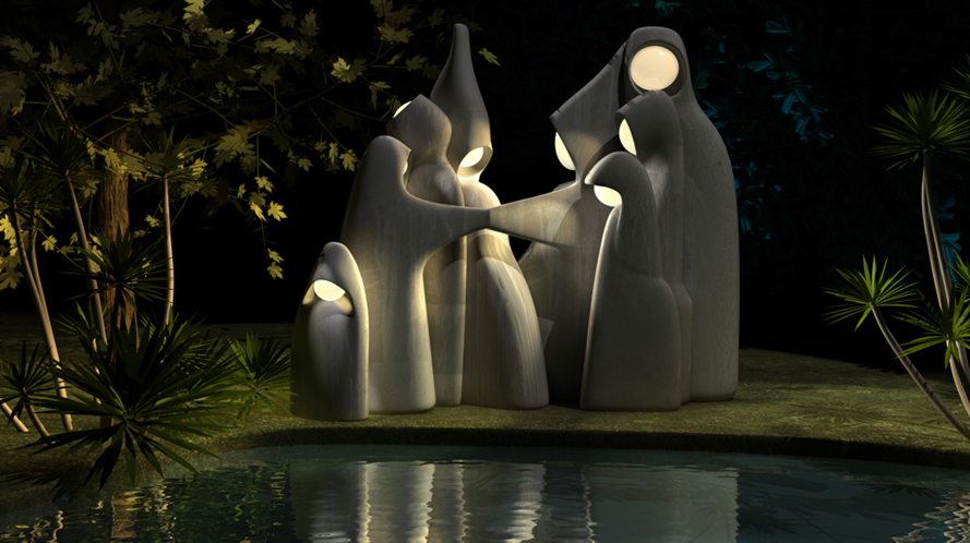 statue design pour jardin khenghua. Black Bedroom Furniture Sets. Home Design Ideas