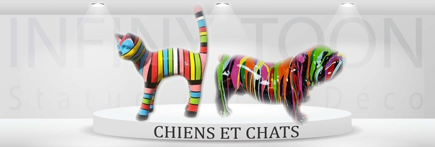 Chat decoration resine khenghua for Decoration chien resine